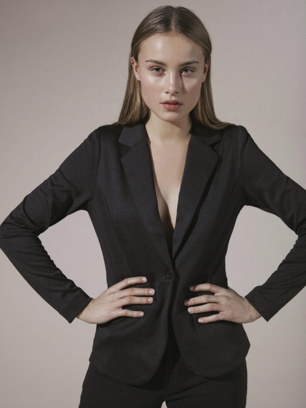 ICHI Kate Blazer Black