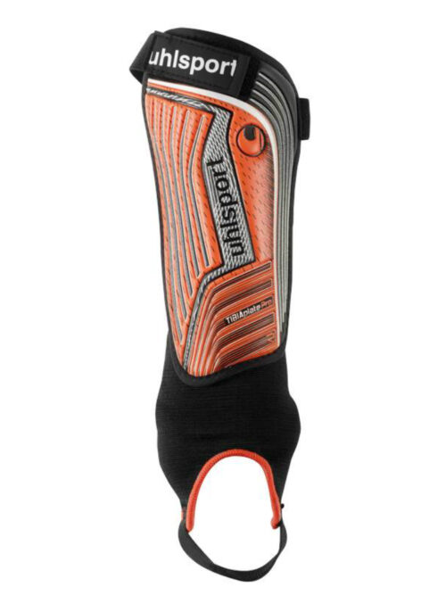 Uhlsport TIBIA PLATE PRO Benskinner Fluo red/anthracite/black