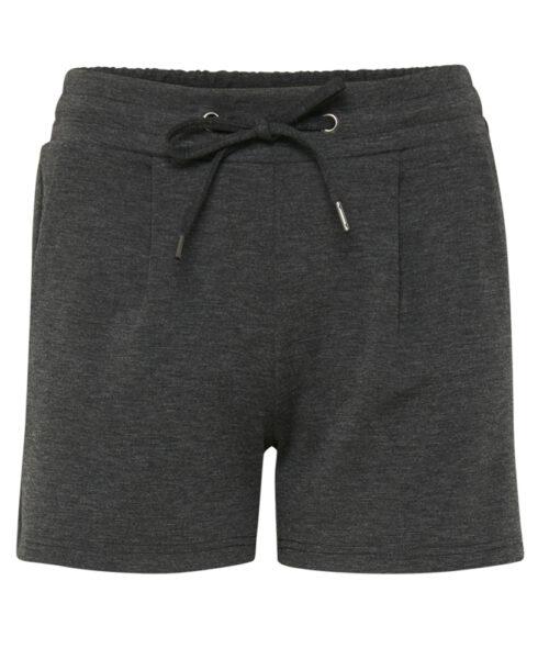 ICHI KATE Shorts Dark Grey Melange