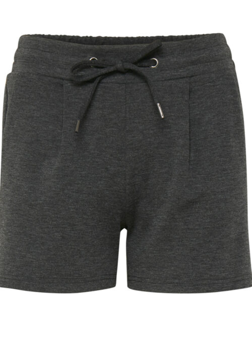 ICHI KATE Shorts Dark Grey Melange