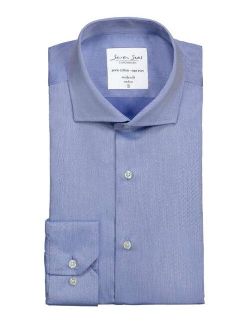 Seven Seas Skjorte SS8 Lyseblå