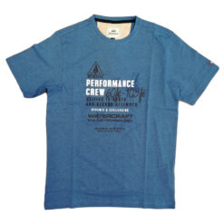 Bison T-shirt 80-40271 Blue Melange
