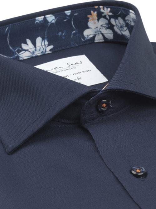 Seven Seas Skjorte FINE TWILL W-CUBA BLUE Navy