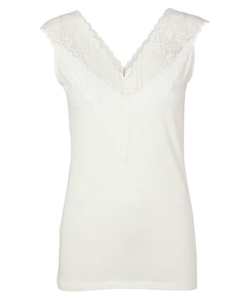 Intown MIRANDA Lace Top White