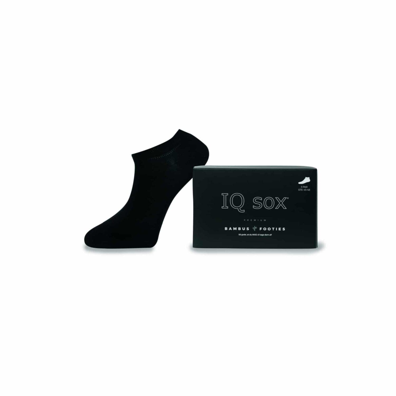 IQ Sox Bambus Footies 3-pack Saphire Black