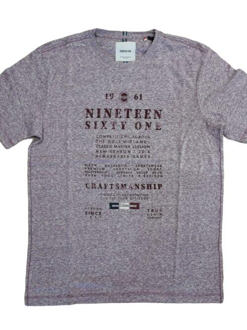Bison T-shirt 80-40289 DK Red