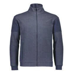 Bison Sweat Cardigan Navy Mel