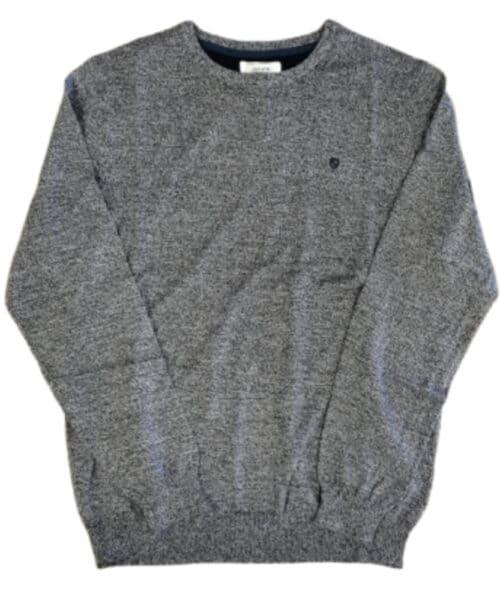Jacks Yarn Twist Pullover Navy Mix