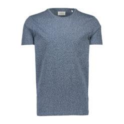 Lindbergh White T-shirt 30-48044 Deep blue mix
