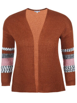 ZE-ZE Nordic Cardigan 5708685 Rust Orange