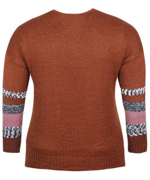 ZE-ZE Nordic Cardigan 5708685 Rust Orange
