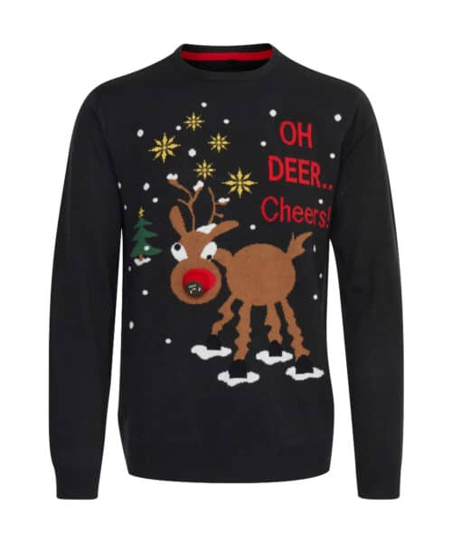 Blend Christmas Pullover Rudolph Music