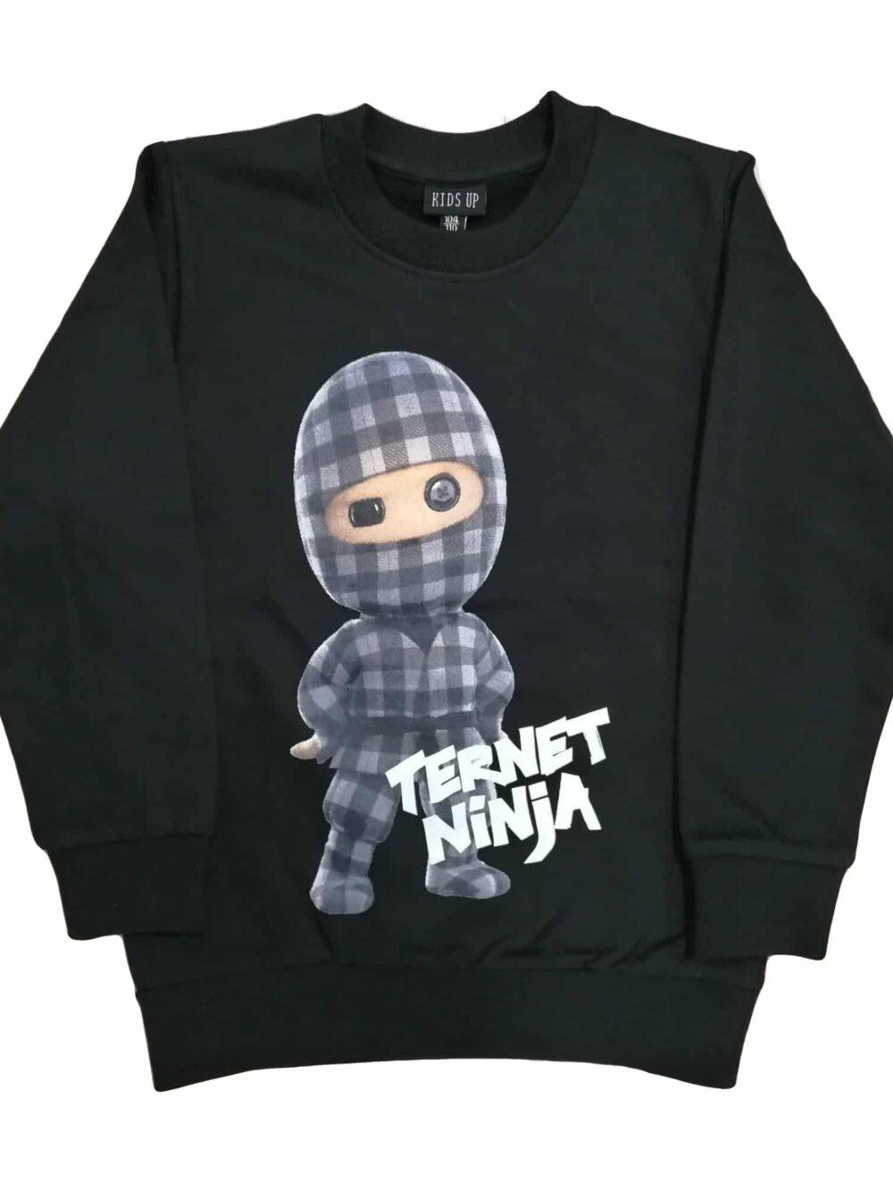Kids Up Ternet Ninja Sweatshirt Black