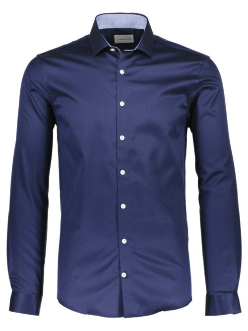 Lindbergh White Skjorte 30-21190 Dark Blue