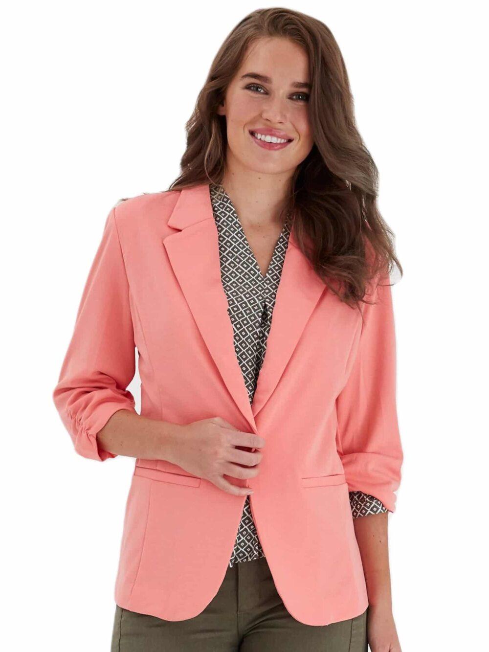 Fransa Zablazer 1 Blazer Shell Pink