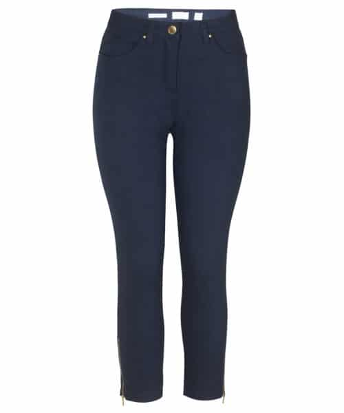 ZE-ZE Nordic SANNE 348 Super Stretch Twill Pants Navy