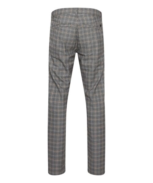 Casual Friday Checked Pants Silver Mink