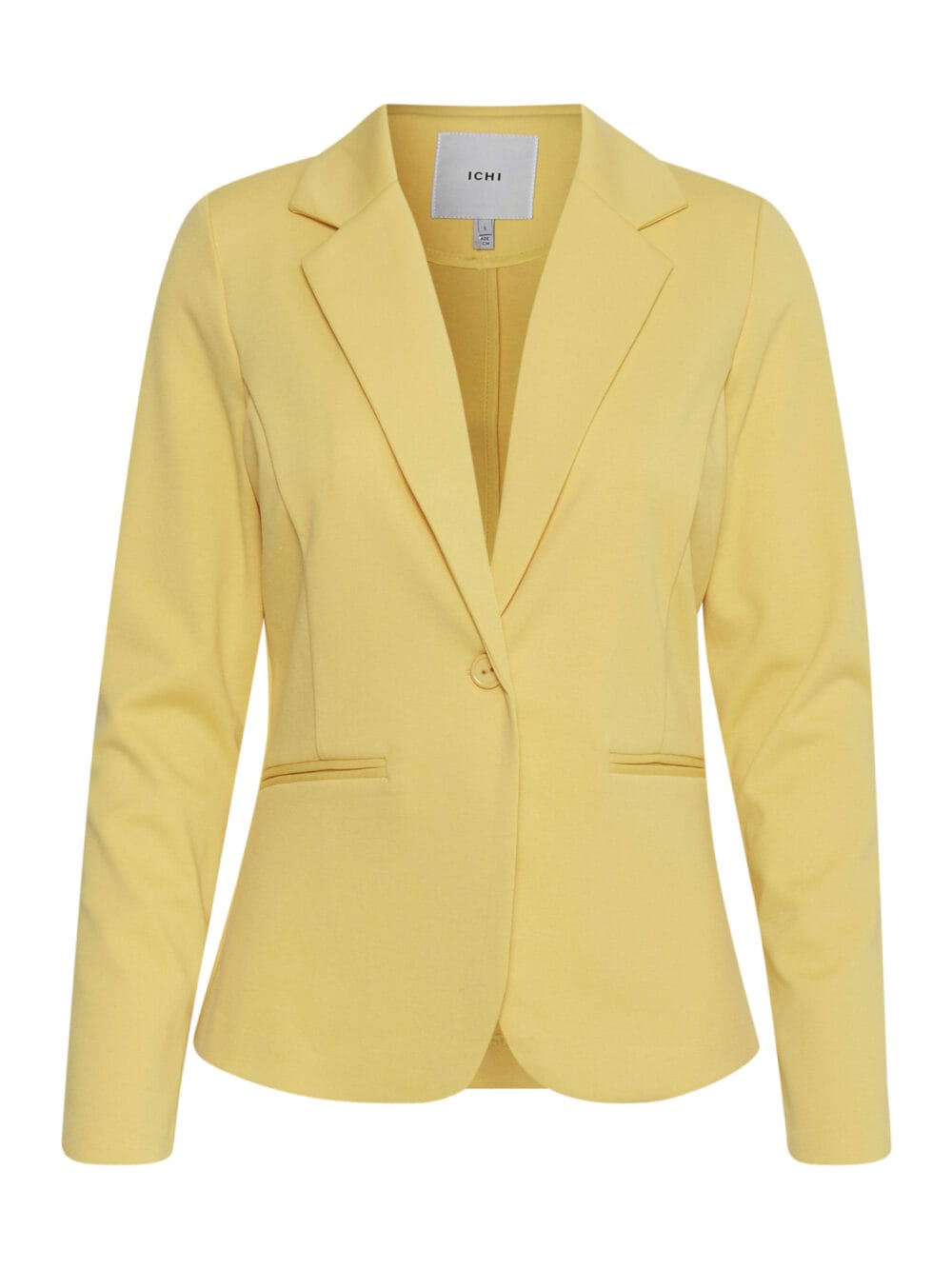 ICHI Kate Blazer Buff Yellow