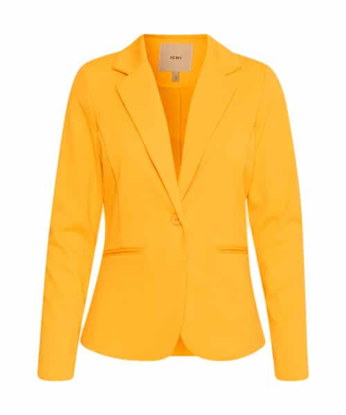 ICHI Kate Blazer Buff Yellow