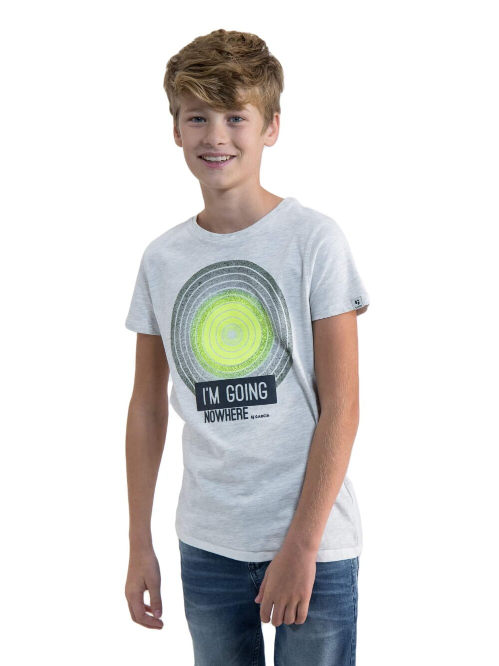 Garcia T-shirt O03401 White Melee