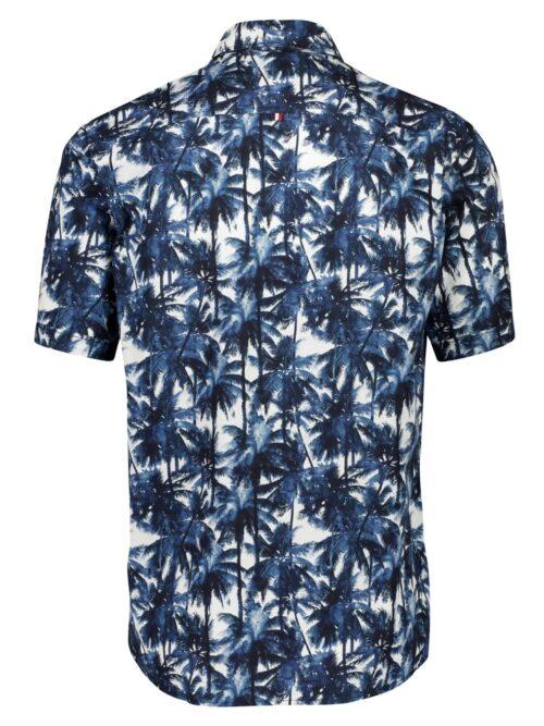 Lindbergh Skjorte AOP Palm Leaves Blue