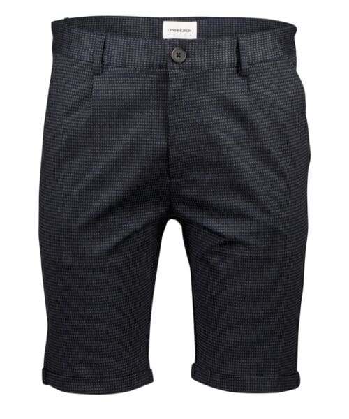 Lindbergh White Knitted Shorts Blue Checked