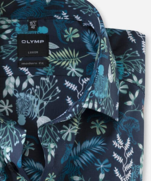 Olymp Luxor Skjorte Global Kent Green Jungle