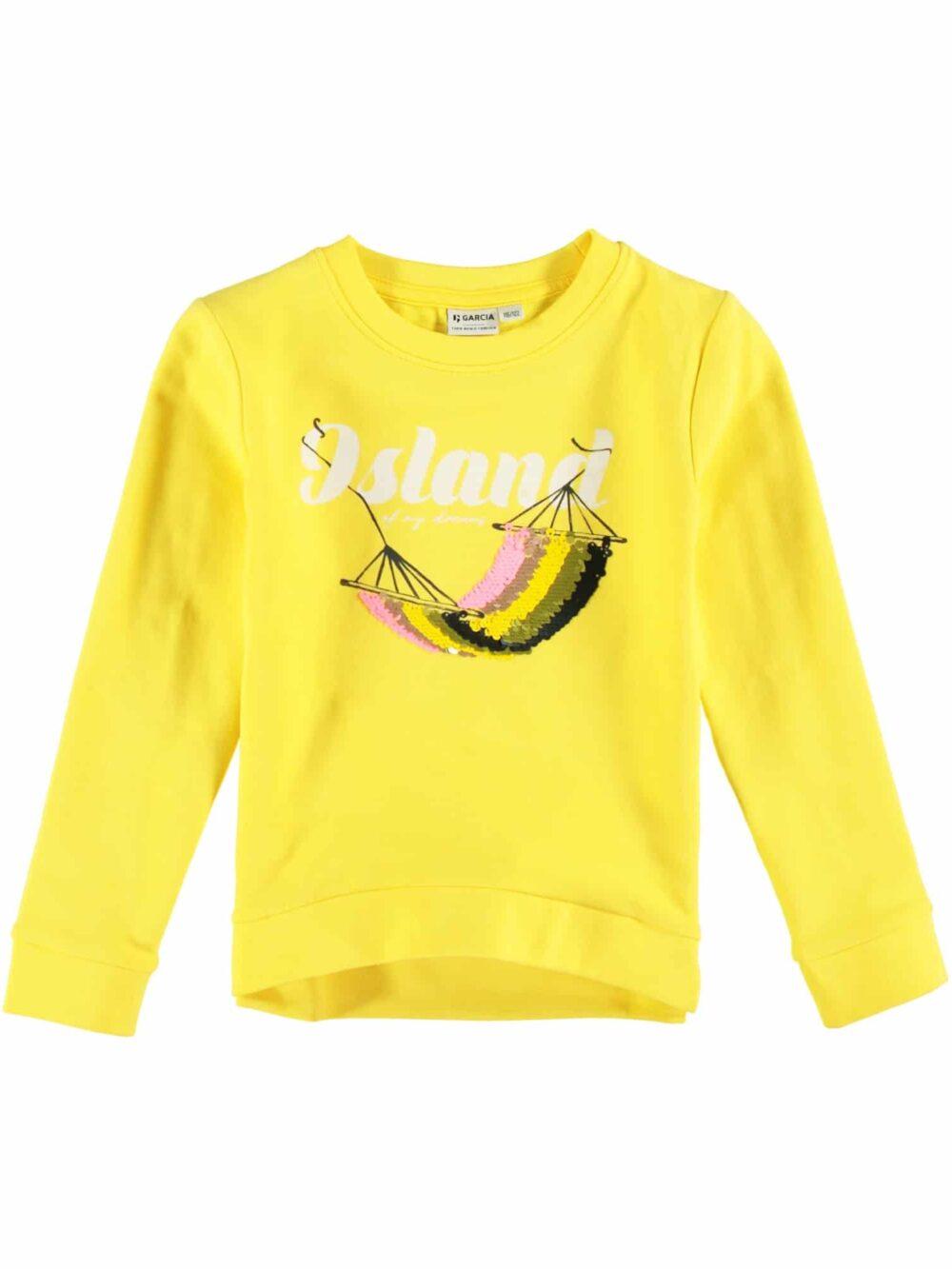 Garcia Sweatshirt P04460 Fire Yellow