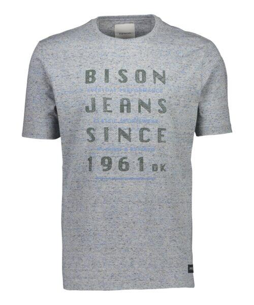 Bison T-shirt 80-400009 LT GREY