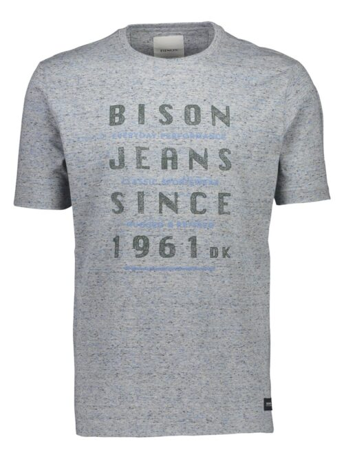 Bison T-shirt 80-400009 LT GREY