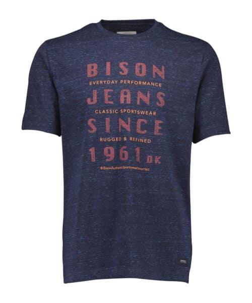 Bison T-shirt 80-400009 NAVY