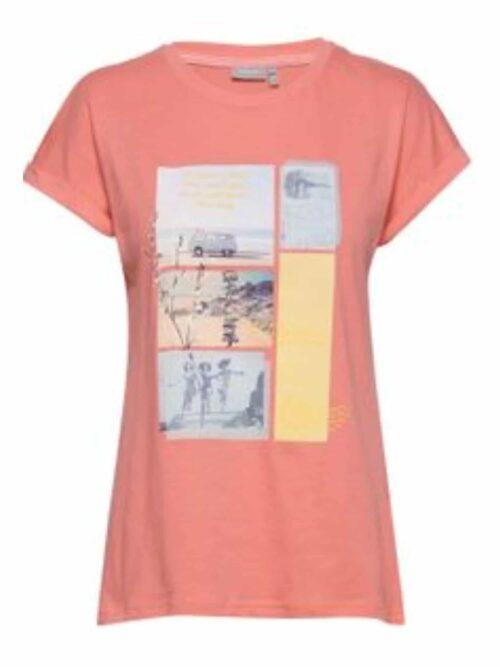 Fransa FRITEE 1 T-shirt Shell Pink