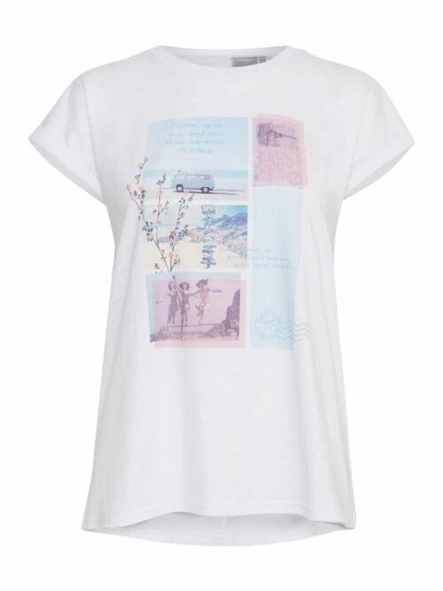 Fransa FRITEE 1 T-shirt White