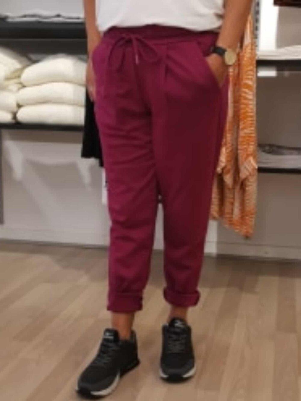 ICHI Kate Buks Raspberry Radiance Cropped