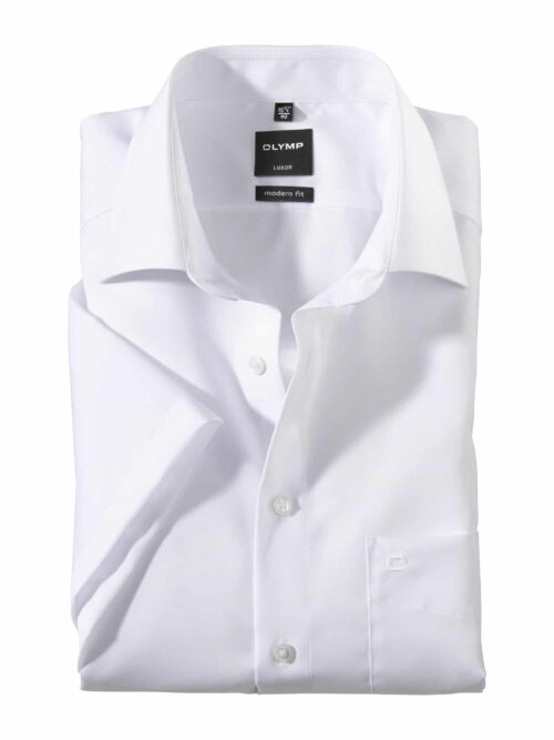 OLYMP Luxor Kortærmet Skjorte New Kent Hvid