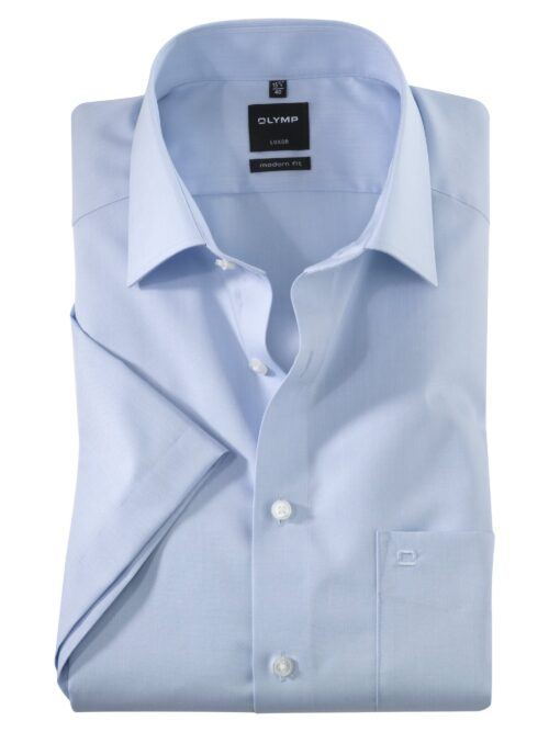 OLYMP Luxor Kortærmet Skjorte New Kent Lyseblå
