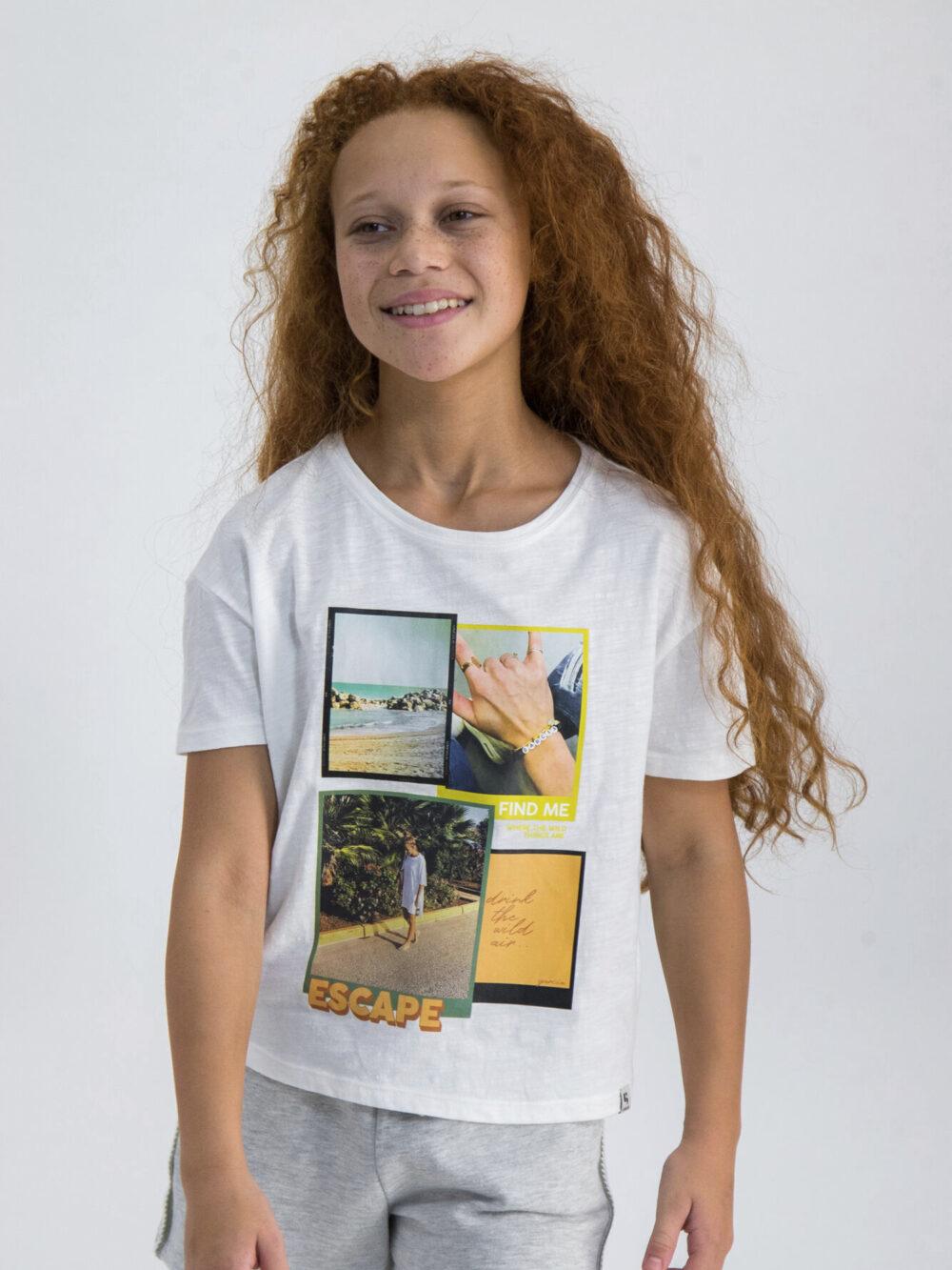 Garcia T-shirt O02402 Off White
