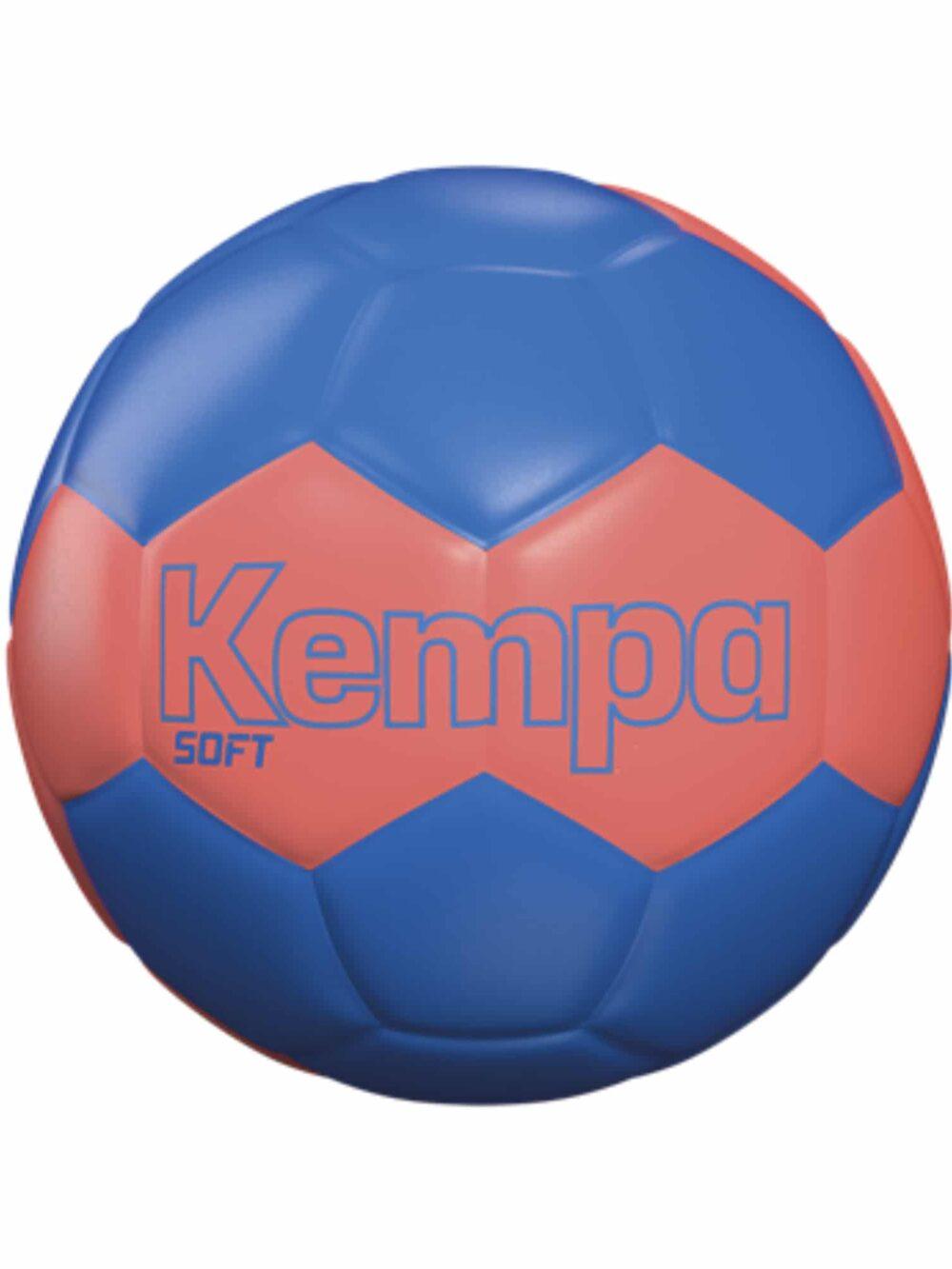 Kempa Soft Håndbold Leo Fluo Red-Kempa Blue