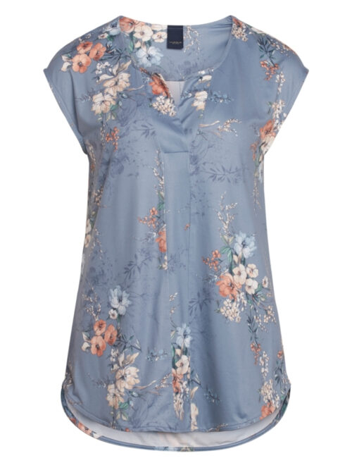 One Two Luxzuz Ingradia Bluse Vintage Blue
