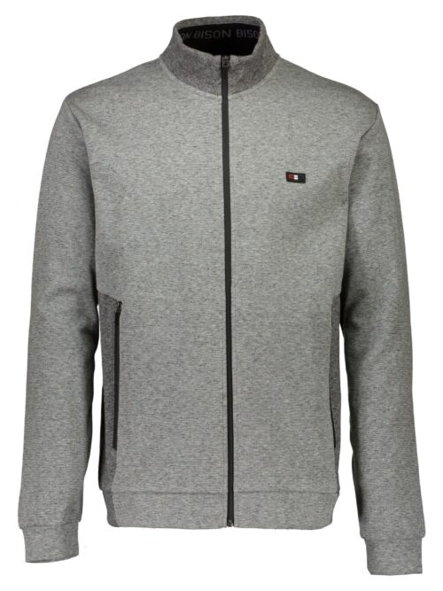 Bison Cardigan 80-702003 Grey Melange