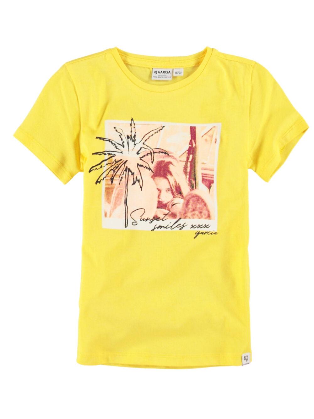 Garcia Pige T-shirt P04401 Fire Yellow