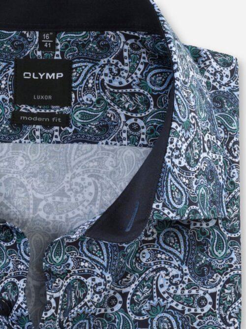 OLYMP Luxor Skjorte Green Paisley