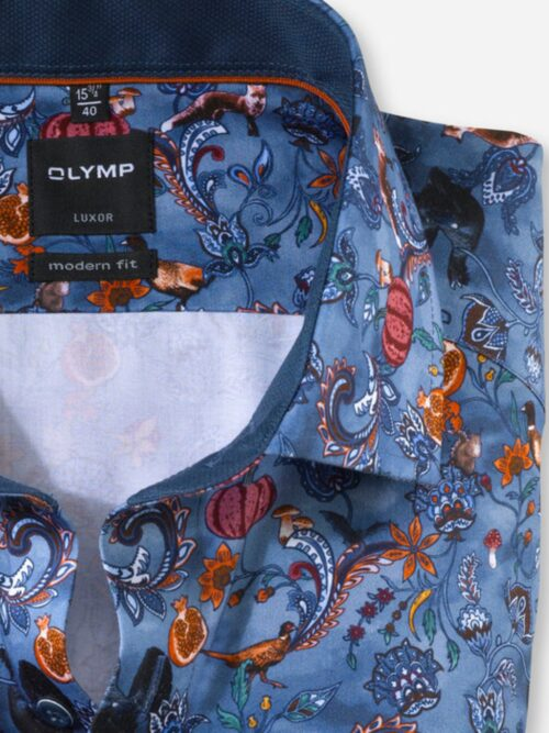 Olymp Luxor Skjorte Smoke Blue Forest