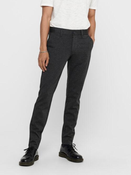 Only & Sons Mark Performance Pants Dark Grey Melange