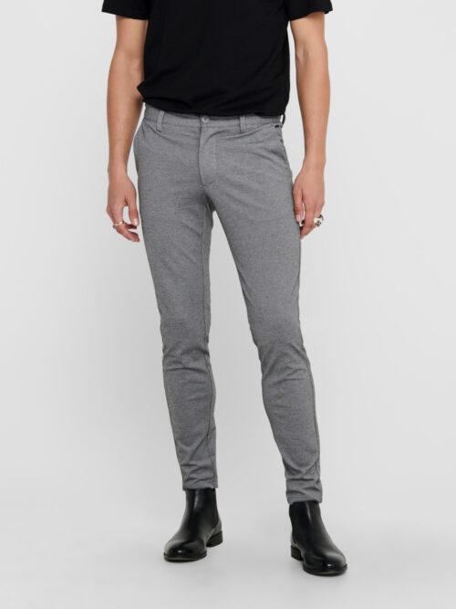 Only & Sons Mark Performance Pants Medium Grey Melange