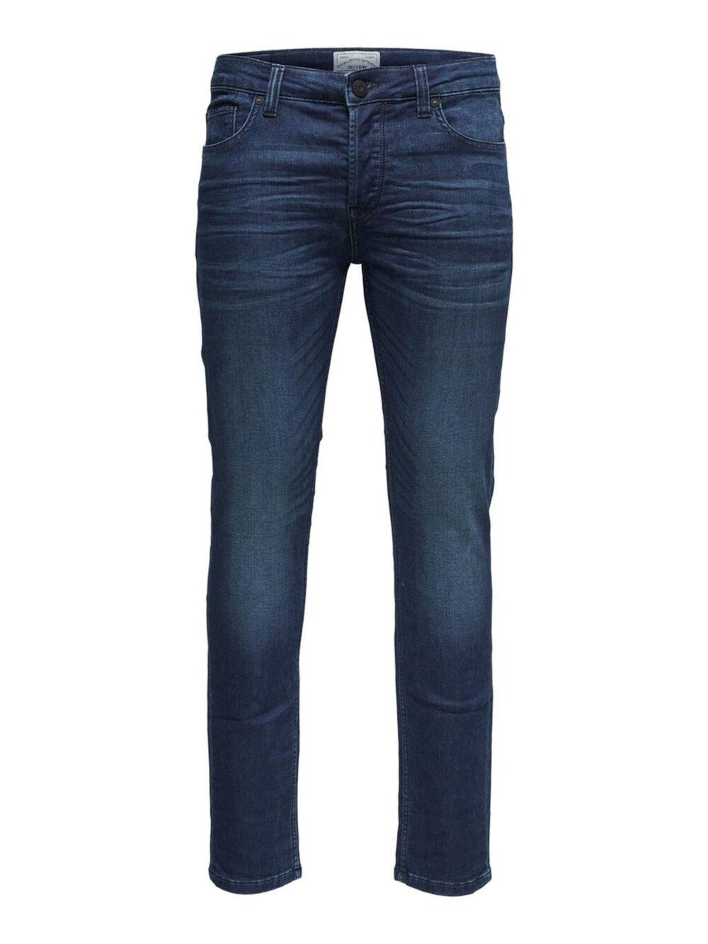 Only & Sons Onsloom Blue Jog Slim Fit Jeans