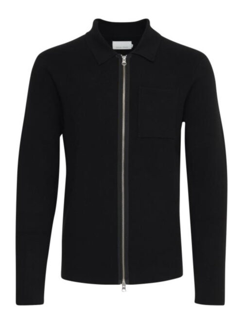 Casual Friday Kalle Zip Cardigan Black