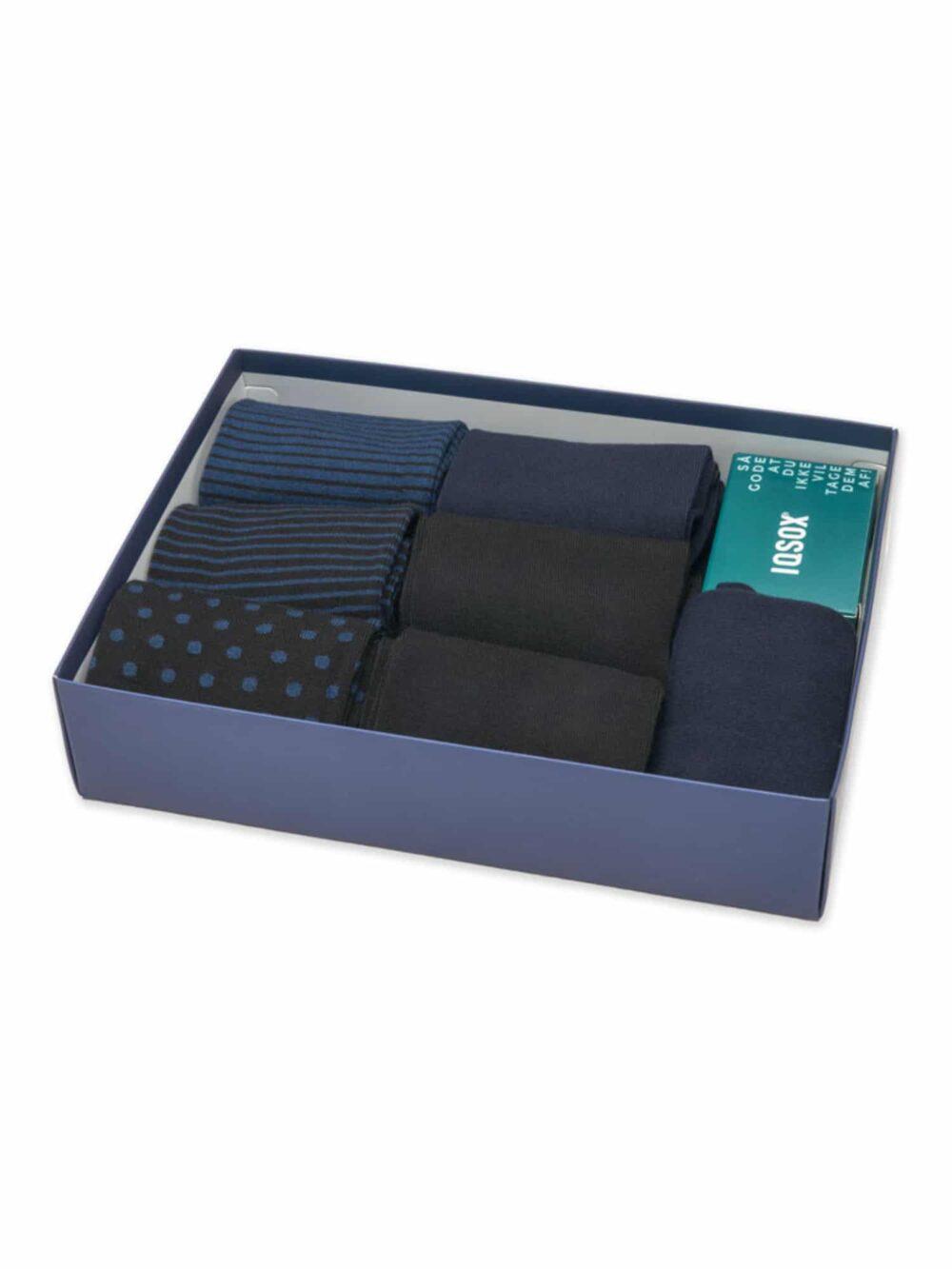 IQ SOX Bambusstrømper 7-Pack Midnight Blue