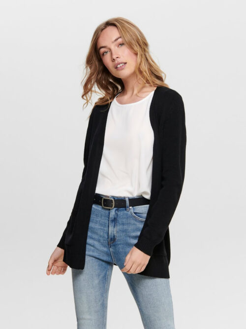 Only Lesly Open Cardigan Black