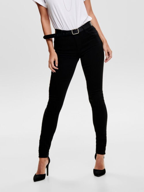 Only ONLRAIN REG SKINNY FIT JEANS Black Denim